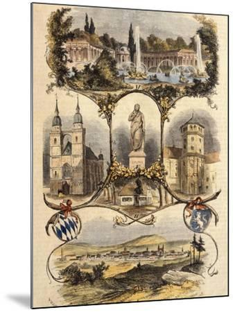 Germany, View of Bayreuth, 1860--Mounted Giclee Print