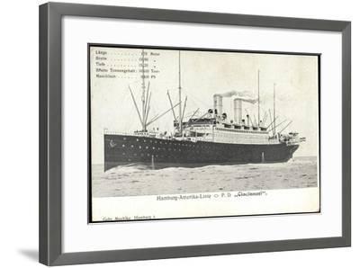 Hapag, Dampfschiff Cincinnati, Transantlantik--Framed Giclee Print