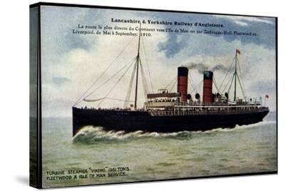 Lancashire, Yorkshire Railway, Steamer Viking--Stretched Canvas Print