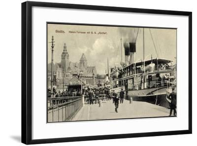 Stettin Pommern, Hen Terrasse Mit S.S. Hertha--Framed Giclee Print