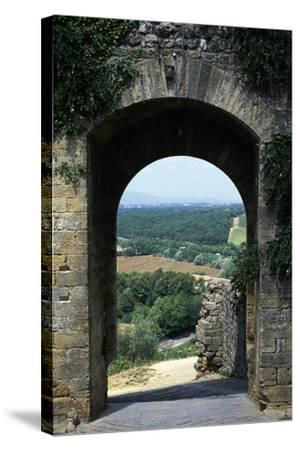 Roman Gate, Monteriggioni, Tuscany, Italy, 13th Century--Stretched Canvas Print