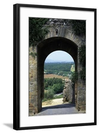 Roman Gate, Monteriggioni, Tuscany, Italy, 13th Century--Framed Giclee Print