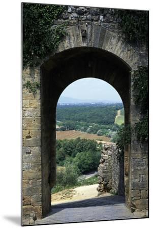 Roman Gate, Monteriggioni, Tuscany, Italy, 13th Century--Mounted Giclee Print