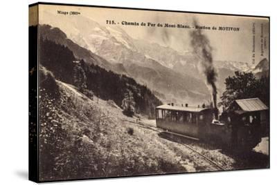 Motivon Haute Savoie, Chemin De Fer Du Mont Blanc--Stretched Canvas Print