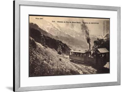 Motivon Haute Savoie, Chemin De Fer Du Mont Blanc--Framed Giclee Print