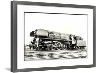 Foto Deutsche Einheitslok Nr. 01 502, Tender--Framed Giclee Print