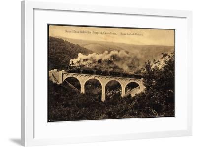 Boppard, Hunsrückbahn, Rauschenloch Viadukt,Dampflok--Framed Giclee Print