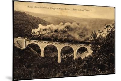 Boppard, Hunsrückbahn, Rauschenloch Viadukt,Dampflok--Mounted Giclee Print