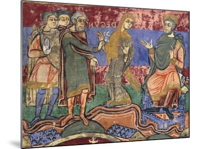 Radegunda Being Conducted by King Chlothar, Miniature from Life of Saint Radegunda, Manuscript--Mounted Giclee Print