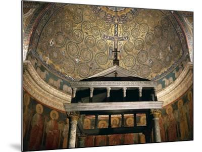 Triumph of Cross, Mosaic from Medallion of Apse, Basilica of St Clement, Rome. Italy, 12th Century--Mounted Giclee Print