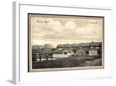 Weener Ems, Blick Auf Die Eisenbahnbrücke, Eisenbahn--Framed Giclee Print