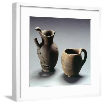 Oinochoe with Trefoil Lip and Mug, Lazio, Italy, Latin Civilization, 4th-3rd Century BC--Framed Giclee Print
