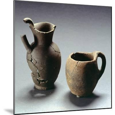 Oinochoe with Trefoil Lip and Mug, Lazio, Italy, Latin Civilization, 4th-3rd Century BC--Mounted Giclee Print