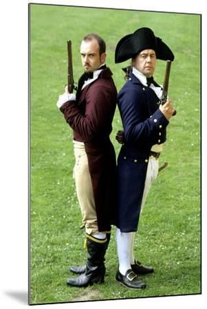 English Regency Period Duellists, 1820, Naval Officer and Civilian, Historical Re-Enactment--Mounted Giclee Print