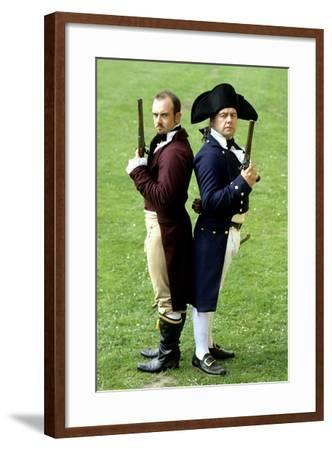 English Regency Period Duellists, 1820, Naval Officer and Civilian, Historical Re-Enactment--Framed Giclee Print