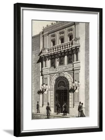 Spain, Madrid, Scientific, Literary and Artistic Ateneo, Engraving, 1892--Framed Giclee Print