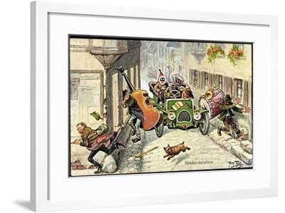Künstler Thiele,Arthur,Hindernisfahrten,Auto,Musiker--Framed Giclee Print