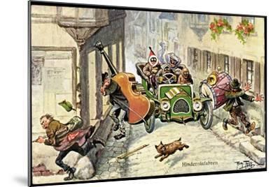 Künstler Thiele,Arthur,Hindernisfahrten,Auto,Musiker--Mounted Giclee Print