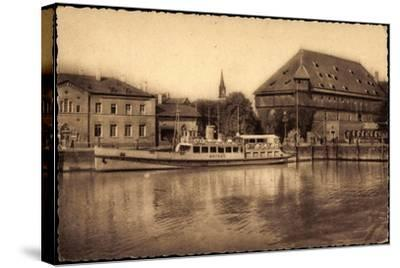 Konstanz Bodensee, Blick Zum Hafen, Dampfer Mainau--Stretched Canvas Print