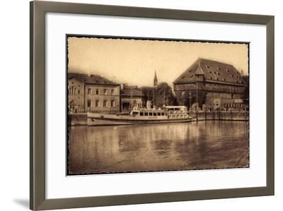 Konstanz Bodensee, Blick Zum Hafen, Dampfer Mainau--Framed Giclee Print