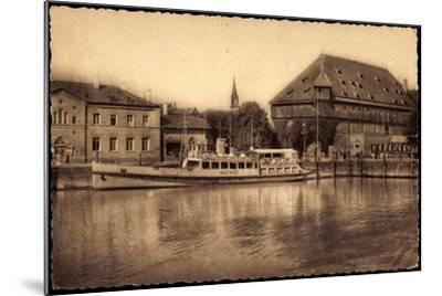 Konstanz Bodensee, Blick Zum Hafen, Dampfer Mainau--Mounted Giclee Print