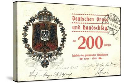 Wappen Deutscher Gruß, Preußisches Königshaus, 200J--Stretched Canvas Print