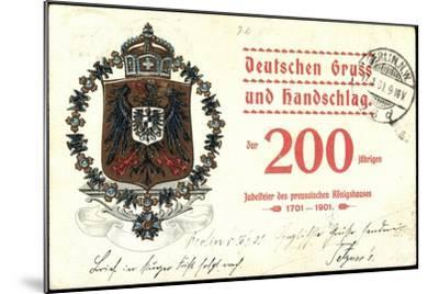 Wappen Deutscher Gruß, Preußisches Königshaus, 200J--Mounted Giclee Print