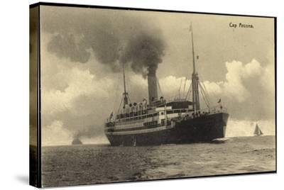 HSDG, Dampfschiff Cap Arcona in Fahrt, Segelboote--Stretched Canvas Print