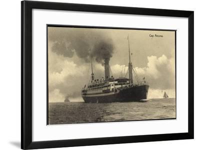 HSDG, Dampfschiff Cap Arcona in Fahrt, Segelboote--Framed Giclee Print