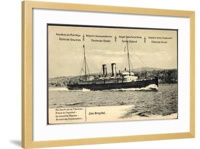 Ganzsachen Ostende, Vue Du Paquebot Jan Breydel--Framed Giclee Print