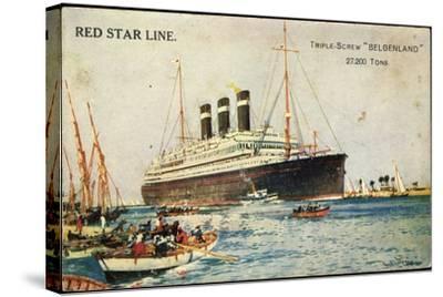 Künstler Red Star Line, Triple Screw Belgenland--Stretched Canvas Print