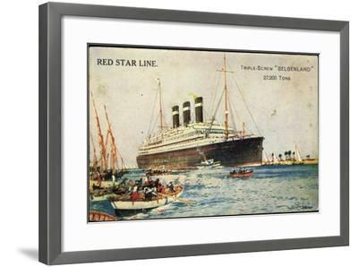 Künstler Red Star Line, Triple Screw Belgenland--Framed Giclee Print