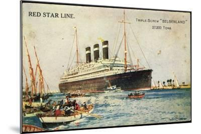 Künstler Red Star Line, Triple Screw Belgenland--Mounted Giclee Print