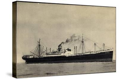 Hapag, S.S. Duivendijk, Dampfschiff, Rauch--Stretched Canvas Print