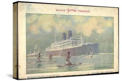 Künstler Messageries Maritimes, Dampfer, Colombo--Stretched Canvas Print