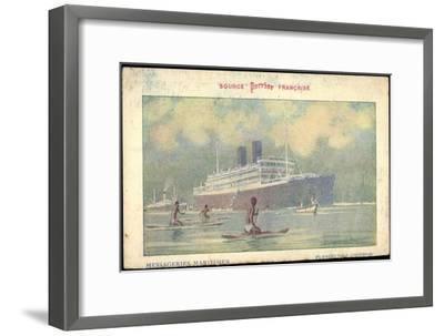 Künstler Messageries Maritimes, Dampfer, Colombo--Framed Giclee Print
