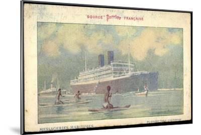 Künstler Messageries Maritimes, Dampfer, Colombo--Mounted Giclee Print