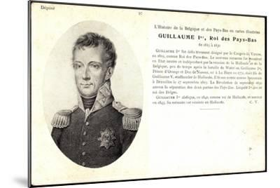 Künstler Guillaume I, Roi, Pay Bas,Adel Niederlande--Mounted Giclee Print