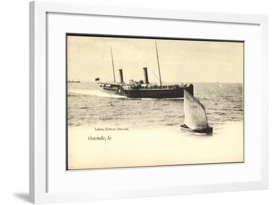 Ostende, Fährschiff Läuft An, Segelboot 077--Framed Giclee Print