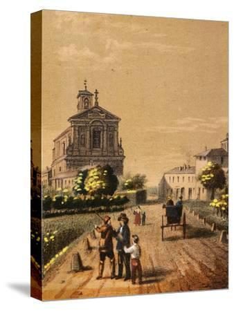 Church of Bicocca in Novara, from Views of the City of Novara, Italy--Stretched Canvas Print