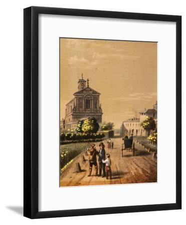Church of Bicocca in Novara, from Views of the City of Novara, Italy--Framed Giclee Print