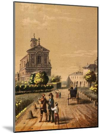 Church of Bicocca in Novara, from Views of the City of Novara, Italy--Mounted Giclee Print