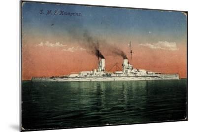 Deutsches Kriegsschiff, S.M.S. Kronprinz Auf See--Mounted Giclee Print