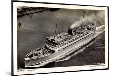 Dampfer D.M.S. Baloeran, Rotterdamsche Lloyd--Mounted Giclee Print