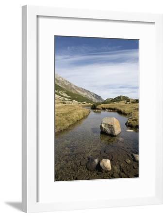 Bulgaria, Pirin Mountains, Pirin National Park, Stream with Large Stone--Framed Giclee Print