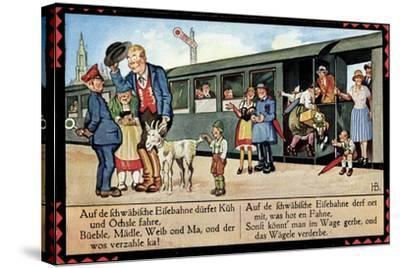 Künstler Boettcher, Hans, Schwäbische Eisebahne, Wägele, Gaisbock--Stretched Canvas Print