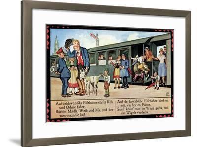 Künstler Boettcher, Hans, Schwäbische Eisebahne, Wägele, Gaisbock--Framed Giclee Print