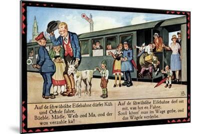 Künstler Boettcher, Hans, Schwäbische Eisebahne, Wägele, Gaisbock--Mounted Giclee Print