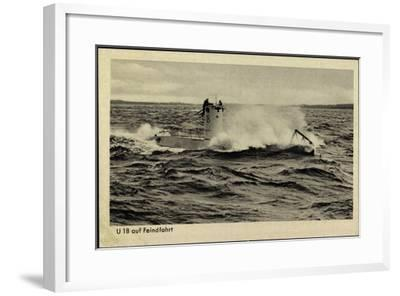 Wehrmacht, Kriegsmarine, U Boot, U 18, Feindfahrt--Framed Giclee Print