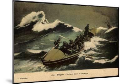 Dieppe, Sortie Du Canot De Sauvetage, Rettungsboot--Mounted Giclee Print